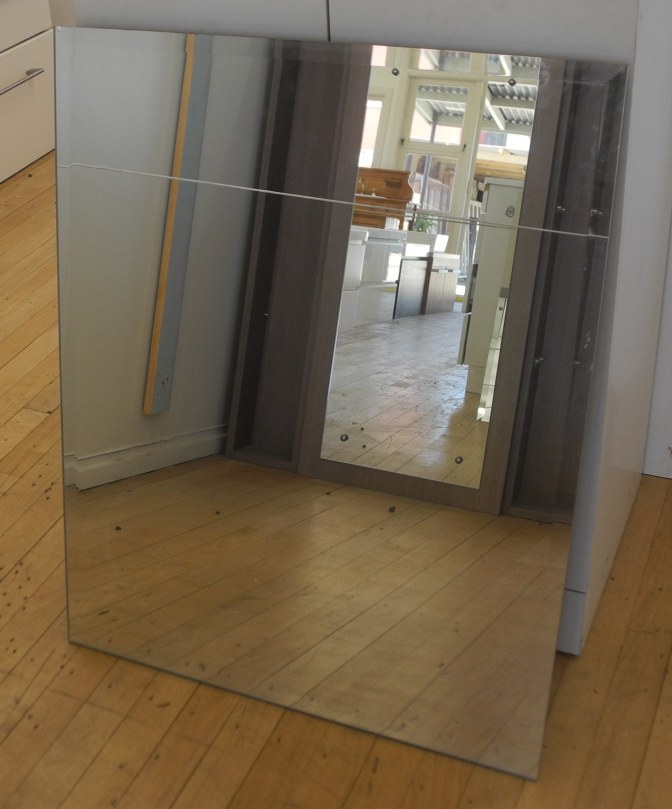 Bevelled Edge Mirror 600w x 750h #876